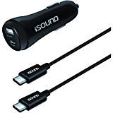 iSound Dual USB (Type-A & Type-C) Car Charger Kit