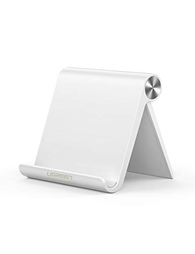Sclout Cell Phone Stand Holder Mobile Phone Dock Compatible with iPhone X 8 Plus 6 7 XS Max 6S 5, Samsung Galaxy S9 S8 S7 Edge S6, Android Smartphone Holder for Desk, Adjustable and Foldable (White) 121