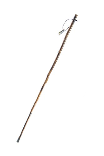 SE WS627-50 Wooden Walking/Hiking Stick with Hand-Carved Flower Design, 50'