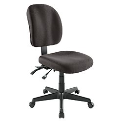 WorkPro Mobility Multifunction Fabric Task Chair, Black/Black