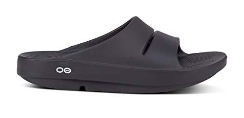 OOFOS Unisex Ooahh Slide Sandal,Black,13 B(M) US Women / 11 D(M) US Men
