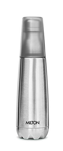 21TMw0L8lBL - Milton Vertex -750 Thermosteel  Water Bottle with Unbreakable Tumbler, 750 ml, Silver