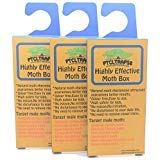 Clothes Moth Traps Box Natural Glue Sticky Trap Highly Effective Attractant Casemaking, Carpet, Webbing Moth, Pro Cloest Essentials Get Rid of Wool Moths with Natural Safe and Odor-Free Traps