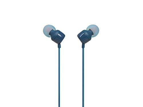 JBL T110 - Auriculares in-Ear con Mando a Distancia de un botón, Azul, Una Talla
