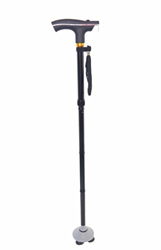 Walking Cane and Flashlight - Self Balancing Walker with Bright Flashlight and Bending Joint - Telescopic