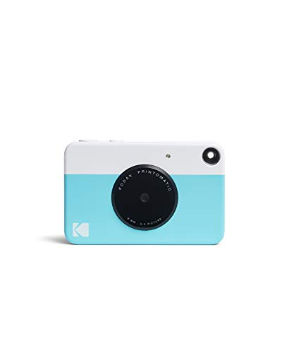 Kodak PRINTOMATIC Digital Instant Print Camera (Blue), Full Color Prints On ZINK 2x3 Sticky-Backed Photo Paper - Print Memories Instantly