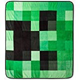 Minecraft Creeper Plush Throw Blanket - 53 in. x 53 in.
