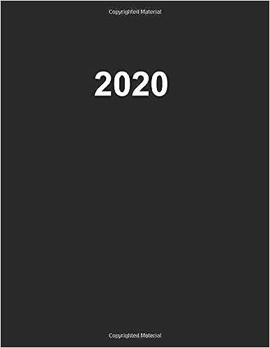 2020 Artist's Productivity Planner in Plain Black