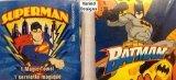 2 Superman & Batman Pop Up Magic Towel Washcloth Set - Varied Designs