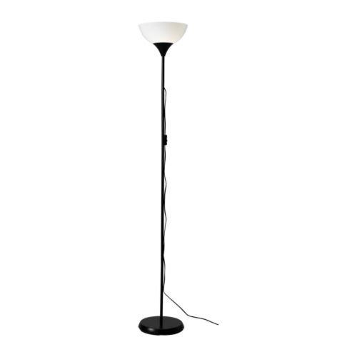 Ikea 101.398.79 NOT Floor Uplight Lamp, 69-Inch, Black/White