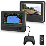 RCA (DRC69705E28G) - 7' Dual Screen Mobile DVD Player System & Game Pad - Set of Two 7-Inch Screens, (6-Piece Kit)