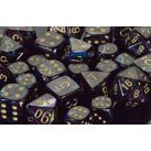 Chessex 27499 Polyhedral Dice, Lustrous Shadow with Gold 7-Die Set CHX, Multicolor