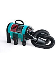High Velocity Professional Dog Pet Grooming Hair Force Dryer Blower 5.0HP (Super Cyclone) (5.0HP, Black) ...