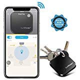 Key Finder, Key Locator Bluetooth -Tracker Device with App Control for iPhone, Smart Slim Wallet Bag Luggage Tracker, Compatible with iOS Android,Replaceable Battery