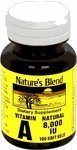 Nature's Blend Vitamin A 8,000 IU 100 Softgels by National Vitamin Company