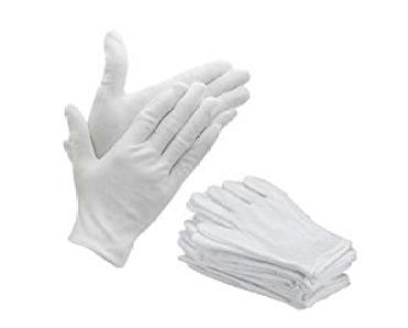 Bon Organik Reusable Cotton Gloves (Pack Of 10) (Free Size), White