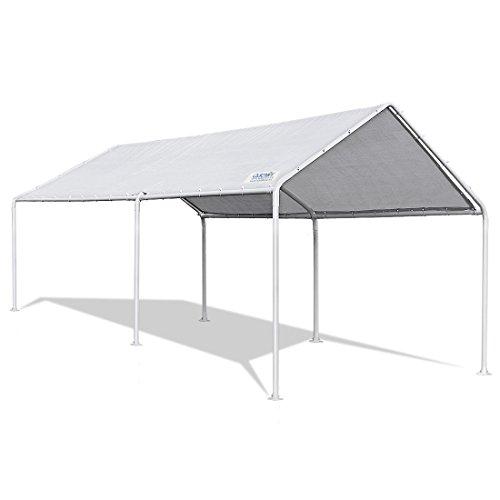 Quictent 20'X10' Upgraded Heavy Duty Carport Car Canopy Party Tent (10x20)