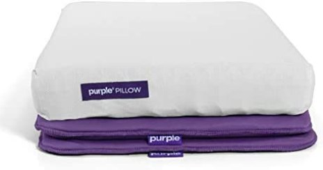 purple supportive pillow