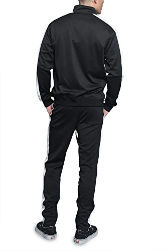 G-Style USA Men's Side Stripe Zipper Jacket Drawstring Waistband Tracksuit 3 Fashion Online Shop gifts for her gifts for him womens full figure