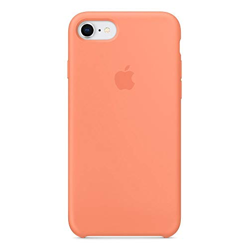Kekleshell iPhone 8 Silicone Case 4.7', iPhone 7 Silicone Case, Soft Liquid Silicone Case with Soft Microfiber Cloth Lining Cushion -4.7inch (Peach)