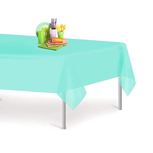 Premium Plastic Tablecloth 54 Inch. x 108 Inch. Rectangle Table Cover 6 - 12 Pack By Grandipity