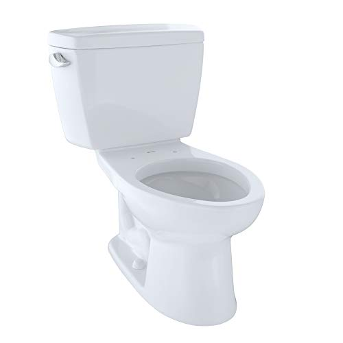 TOTO CST744SG#01 Drake 2-Piece Toilet with Elongated Bowl and Sanagloss,1.6 GPF, Glazed Cotton White