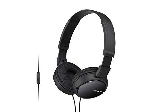 Sony MDR-ZX110/BCUC Audífonos de Diadema Plegables y Giratorios, color Negro