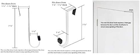 31 Z%2Bx MiGL. AC  - AmazonBasics – Gancho individual para puerta, Doble gancho, Blanco, Double Hook, 1 #Amazon