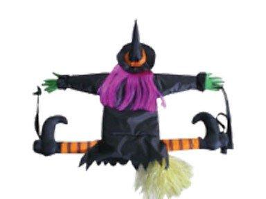 Betty Bash Crashing Witch Into Tree Halloween Decoration