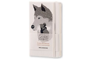 Moleskine Limited Edition Game of Thrones Notebook, Hard Cover, Pocket (3.5″ x 5.5″) Plain/Blank, White, 192 Pages