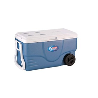 Coleman-100-Quart-XTREME-5-Day-Cooler-with-Wheels-and-Handle-Extra-ThermoZone-Insulated-that-Holds-Cold-Longer-for-Wine-and-Water-Drinks-Ideal-for-Party-Grocery-and-Camping-CFCs-HFCs-and-HCFCs-FREE