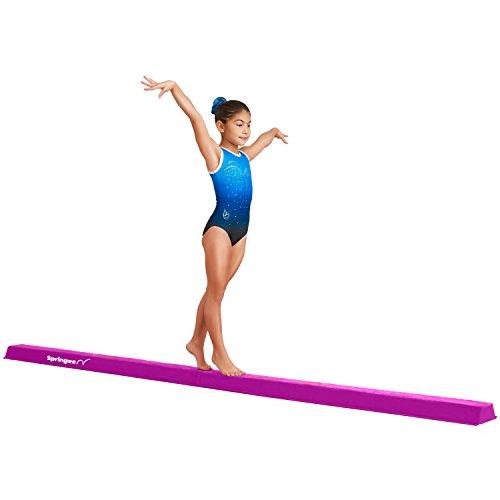 Springee Team Balance Beam 10ft - Suede Extra Firm Folding Gymnastics Beam - Practice Gymnastics Equipment for Home - The Safe Balance Beam for Kids