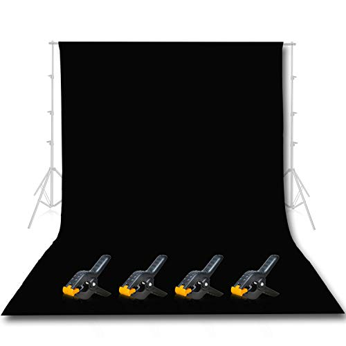 Emart-Photo-Studio-10-x-12ft-Black-Backdrop-Screen-Seamless-Chromakey-Backdrop-Muslin-Background-Screen-for-Photography