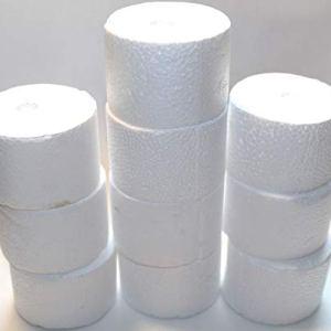 10 Dischi cilindrici Rotondi in polistirolo 5,5 cm