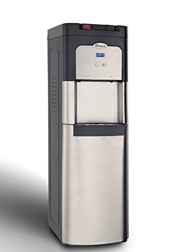 Whirlpool Self Cleaning, Bottom Loading Commercial Water Cooler, Digital Temperature Control, Ice Chilled Water, Steaming Hot, Full Stainless Steel Water Dispenser