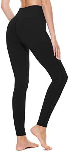 "BALEAF Women's 20"" / 28"" High Waisted Yoga Leggings Workout Capri Tummy Control Pants with Pocket(Plus Size/Regular) 4"