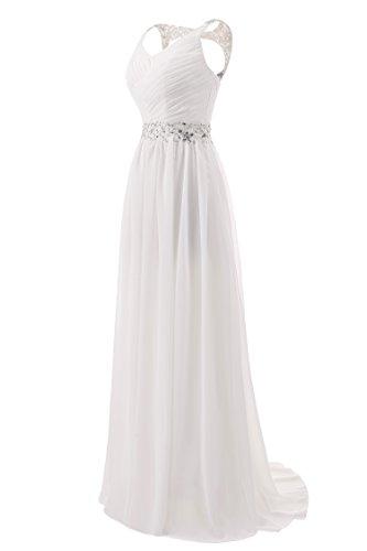 9311cb791 AbaoWedding Women's Chiffon V Neck Shoulder Straps Long Wedding Evening  Dress
