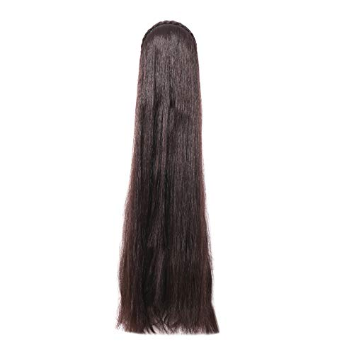 Honbon Long Shiny Straight Hair Extension Wig (Black) for Women 30 inch …