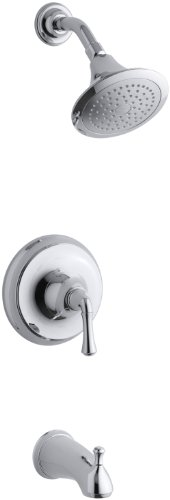 KOHLER K-T10275-4A-CP Forte Rite-Temp Pressure-Balancing Bath, Polished Chrome
