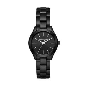 Michael Kors Women's Mini Slim Runway Black Watch MK3587