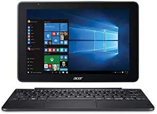 "Acer Switch One 10 S1003-12JT 10.1"" 2-in-1 Laptop, Intel Atom x5-Z8350, 32GB eMMC, 4GB RAM, Windows 10 Home, Bilingual, Color: Dark Gray"