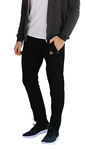 SCR SPORTSWEAR Men's Soccer Track Training Pants Athletic Sweatpants with Zipper Pockets Black Heather Grey Short Long Inseam 1 Fashion Online Shop Gifts for her Gifts for him womens full figure