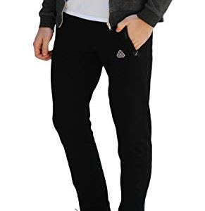 SCR SPORTSWEAR Men's Soccer Track Training Pants Athletic Sweatpants with Zipper Pockets Black Heather Grey Short Long Inseam 6 Fashion Online Shop Gifts for her Gifts for him womens full figure