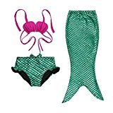 Gprince 3pc Baby Girl Princess Mermaid Sequins Swimsuit Bow Costume Headband Bikini swimwear