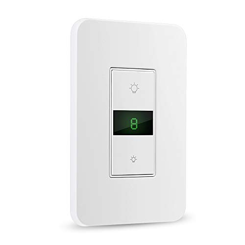 BrizLabs Smart Dimmer Switch, Wi-Fi Dimmer Light Switch with Remote/Timer for LED/Incandescent, 15A Smart Light Switch, Works with Alexa/Google Assistant/IFTTT, No Hub Required, ETL & FCC Certified