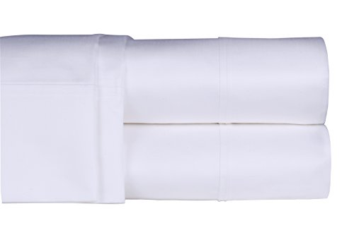 Threadmill Home Linen 400 Thread Count 100% Extra-Long Staple Cotton Sheets, Luxury Bedding, Full Sheets 4 Piece Set,Smooth Sateen Weave,White
