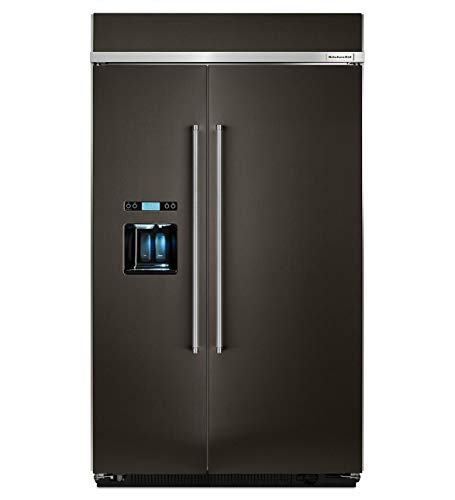 KitchenAid KBSD608EBS 48 Inch Built-in Side by Side Refrigerator
