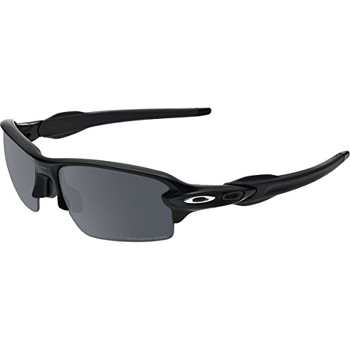 Oakley Men's OO9295 Flak 2.0 Rectangular Sunglasses, Polished Black/Black Iridium Polarized, 59 mm