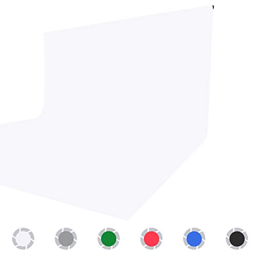 Issuntex-5X65-ft-White-Background-BackdropPhoto-StudioCollapsible-High-Density-Screen-for-Video-Photography-and-Television