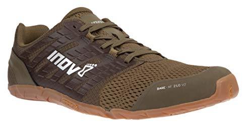 Inov-8 Mens Bare-XF 210 V2 - Barefoot Minimalist Cross Training Shoes - Zero Drop - Wide Toe Box - Versatile Shoe for Powerlifting & Gym - Calisthenics & Martial Arts - Khaki/Gum 10.5 M US
